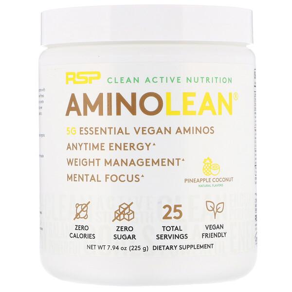 AminoLean, Essential Vegan Aminos, Pineapple Coconut, 7.94 oz (225 g)