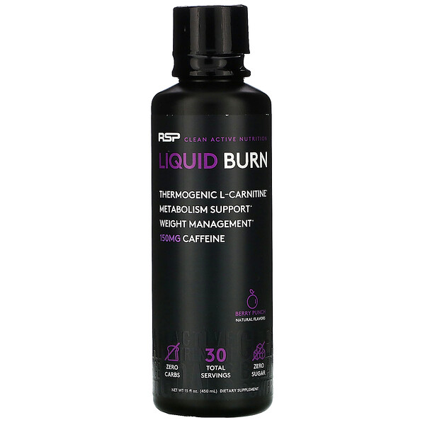 Liquid Burn, Thermogenic L-Carnitine, Berry Punch, 15 fl oz (450 ml)