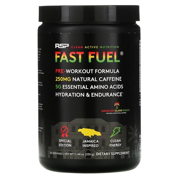 Fast Fuel, Pre-Workout Formula, Hydration & Endurance, Jamaican Island Punch, 11.64 oz (330 g)