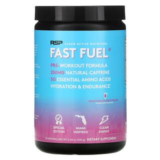 RSP Nutrition, Fast Fuel, Pre-Workout Formula, Hydration & Endurance, Miami Vice Coconut Colada, 11.64 oz (330 g)