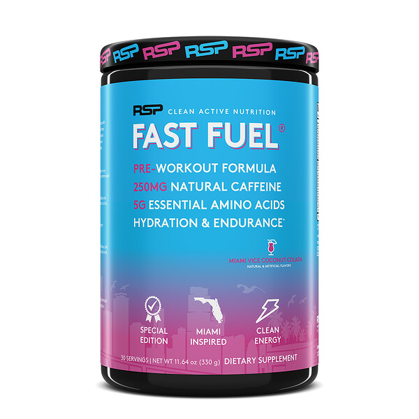 Fast Fuel, Pre-Workout Formula, Hydration & Endurance, Miami Vice Coconut Colada, 11.64 oz (330 g)