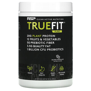 RSP Nutrition, TrueFit Plant Protein Shake, Salted Chocolate, 1.81 lbs (820 g)