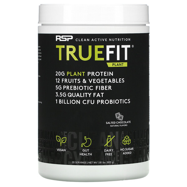 TrueFit Plant Protein Shake, Salted Chocolate, 1.81 lbs (820 g)