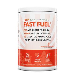 RSP Nutrition, Fast Fuel, Pre-Workout Formula, Hydration & Endurance, Japanese Orange Dreamsicle, 11.64 oz (330 g)