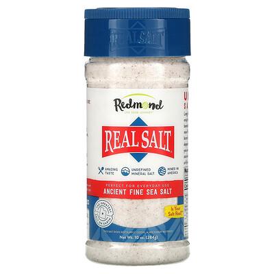Redmond Trading Company Real Salt, Ancient Fine Sea Salt, 10 oz (284 g)