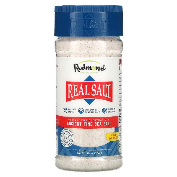 Redmond Trading Company, Real Salt, Ancient Fine Sea Salt, 10 oz (284 g)