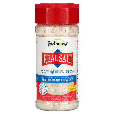 Redmond Trading Company Real Salt, Ancient Kosher Sea Salt, 10 oz (284 g)