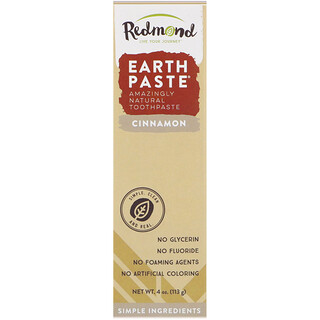 Redmond Trading Company, Earthpaste, Amazingly Natural Toothpaste, Cinnamon, 4 oz (113 g)