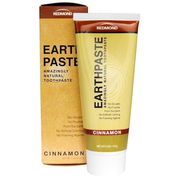Redmond Trading Company, Earthpaste, Amazingly Natural Toothpaste, Cinnamon, 4 oz (113 g)