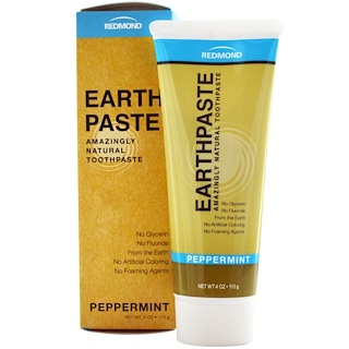 Redmond Trading Company, Earthpaste, Amazingly Natural Toothpaste, Peppermint, 4 oz (113 g)
