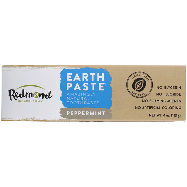 Redmond Trading Company, Earthpaste, Amazingly Natural Toothpaste, Peppermint, 4 oz (113 g) (Discontinued Item)
