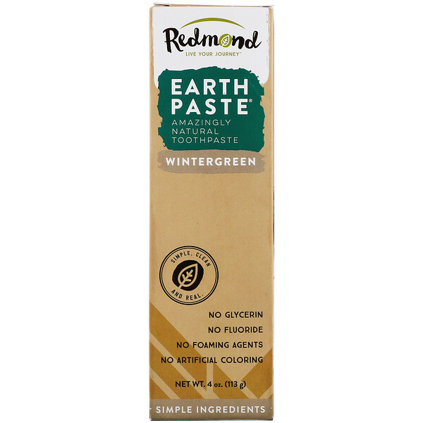 Redmond Trading Company, Earthpaste, Amazingly Natural Toothpaste, Wintergreen, 4 oz (113 g) (Discontinued Item)