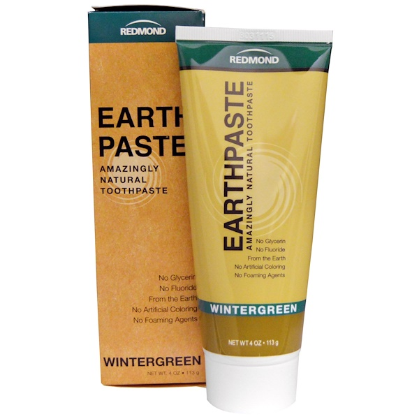 Redmond Trading Company, Earthpaste, Amazingly Natural Toothpaste, Wintergreen, 4 oz (113 g)