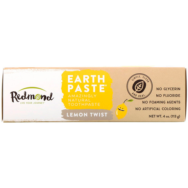 Redmond Trading Company, Earthpaste, Amazingly Natural Toothpaste, Lemon Twist, 4 oz (113 g) (Discontinued Item)