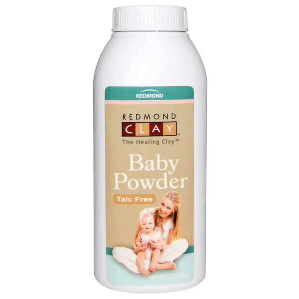 Redmond Trading Company, Baby Powder, Talc Free, 3 oz (85 g) (Discontinued Item)
