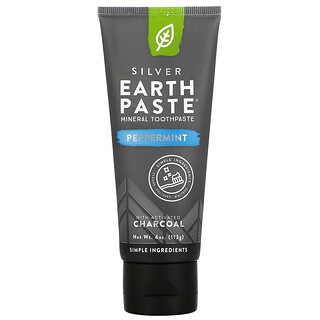 Redmond Trading Company, Earth Paste, Mineral Toothpaste, Peppermint Charcoal, 4 oz (113 g)