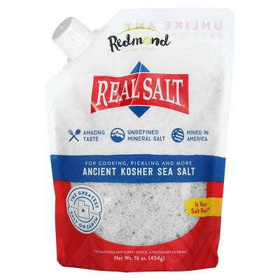 Redmond Trading Company Real Salt, Ancient Kosher Sea Salt, 16 oz (454 g)
