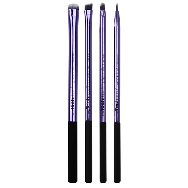 Real Techniques, Your Eyes/Enhanced Eyelining Set, 4 Exclusive Brushes + Pouch (Discontinued Item)