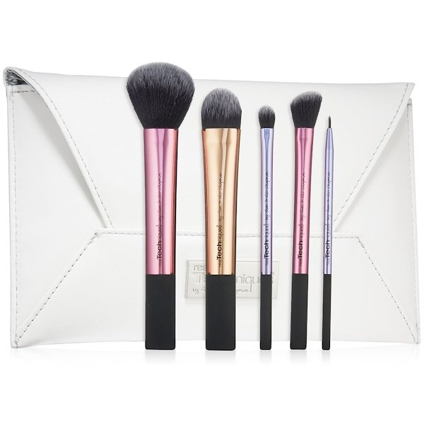 Real Techniques by Samantha Chapman, Limited Edition, Deluxe Gift Set, 5 Brushes + Clutch (Discontinued Item)