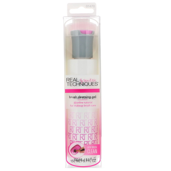 Real Techniques by Samantha Chapman, Brush Cleansing Gel, 5.1 fl oz (150 ml)