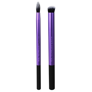 Real Techniques by Sam and Nic, Perfect Crease Duo Brush Set, 2 Piece