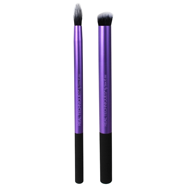Real Techniques by Samantha Chapman, Perfect Crease Duo Brush Set, 2 Piece