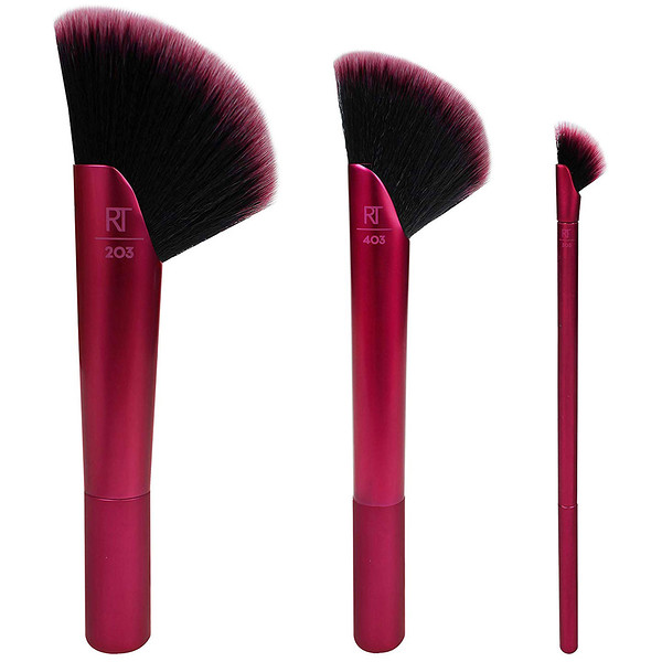 Rebel Edge Trio, For Bronzer + Shadow + Highlighter, 3 Brushes