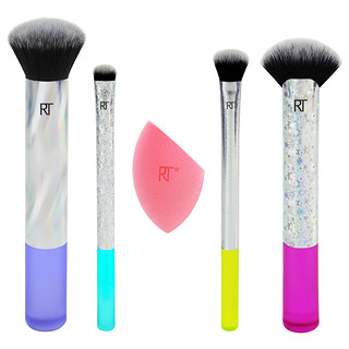 Real Techniques by Samantha Chapman, Limited Edition, Neon Lights, Full Face Complexion Set, 5 Pieces