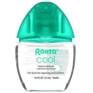 Rohto, Gotas refrescantes para los ojos, Doble acción: alivio del enrojecimiento y la sequedad, 13ml (0,4oz.líq.)
