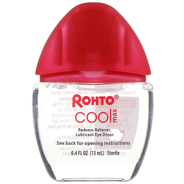 Cooling Eye Drops, Max Strength Redness Relief, 0.4 fl oz (13 ml)