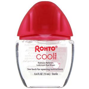 Rohto, Cooling Eye Drops, Max Strength Redness Relief, 0.4 fl oz (13 ml) отзывы покупателей