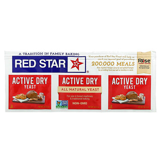 Red Star, 活性干酵母,0.25 盎司(7 克)