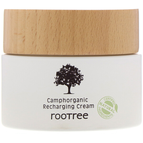 Rootree, Camphorganic Recharging Cream, 2.12 fl oz (60 g) (Discontinued Item)