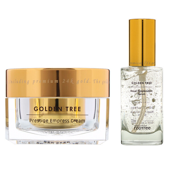 Golden Tree Set, Prestige Empress Cream & Royal Resplendent Serum, 1.76 oz (50 g) & 1.69 oz (50 ml)