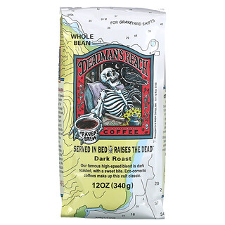 Ravens Brew Coffee, Deadman's Reach Coffee, Whole Bean, Dark Roast, 12 oz (340 g)