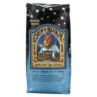 Ravens Brew Coffee, Grin & Bear It, Bruin Blend, Whole Bean, Full City Roast, 12 oz (340 g)