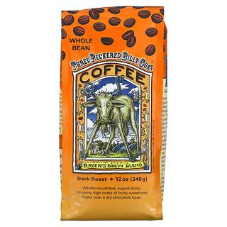 Ravens Brew Coffee, Three Peckered Billy Goat Coffee, Whole Bean, Dark Roast, 12 oz (340 g)