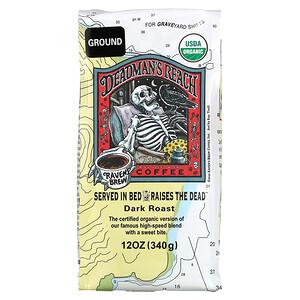 Ravens Brew Coffee, Deadman's Reach Coffee, Organic, Ground, Dark Roast, 12 oz ( 340 g)