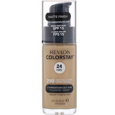 Купить Revlon Тональная основа Colorstay Makeup для комбинированной и жирной кожи, SPF15, оттенок290 «Натуральная охра», 30мл