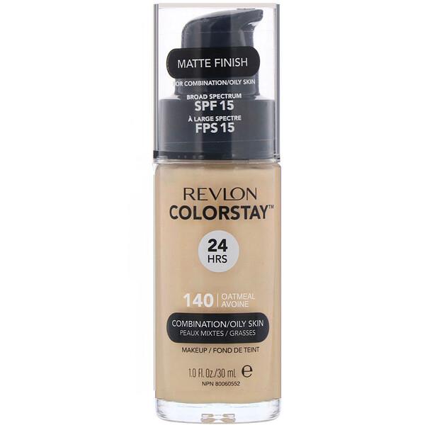 "Revlon, Colorstay מייק אפ, לעור מעורב/שמן, גוון 140 Oatmeal, 30 מ""ל (1 אונקיות נוזל)"