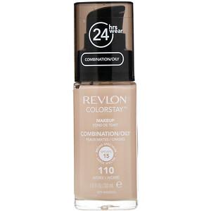 Revlon, Colorstay, Makeup, Combination/Oily, 110 Ivory, 1 fl oz (30 ml) отзывы покупателей