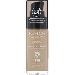 Revlon, 持色粉底,適合混合型/油性皮膚,180 沙棕,1 液量盎司(30 毫升)