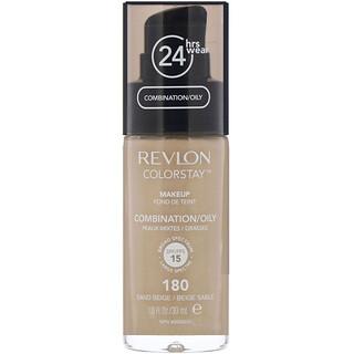 Revlon, Colorstay, Makeup, Combination/Oily, 180 Sand Beige, 1 fl oz (30 ml)