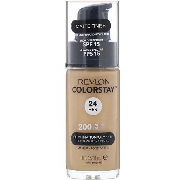 Colorstay, Makeup, Combination/Oily, 200 Nude, 1 fl oz (30 ml)