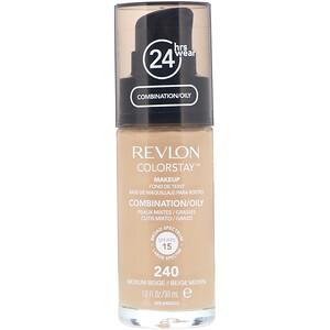 Revlon, Colorstay, Makeup, Combination/Oily, 240 Medium Beige, 1 fl oz (30 ml) отзывы покупателей