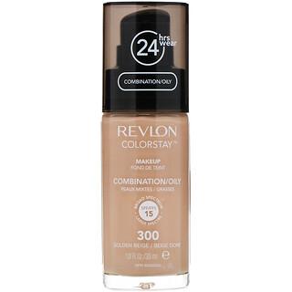 Revlon, Colorstay, Makeup, Combination/Oily, 300 Golden Beige, 1 fl oz (30 ml)