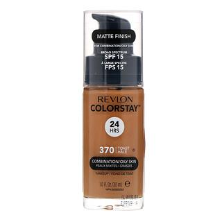 Revlon, Colorstay, Makeup, Combination/Oily, 370 Toast, 1 fl oz (30 ml)