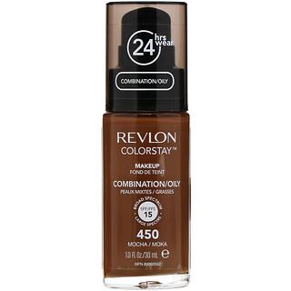 Revlon, Colorstay, Maquillaje, Para pieles mixtas/grasas, 450Moca, 30ml (1oz.líq.)