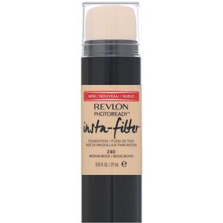 Revlon, PhotoReady, Insta-Filter Foundation, 240 Medium Beige, 0.91 fl oz (27 ml)
