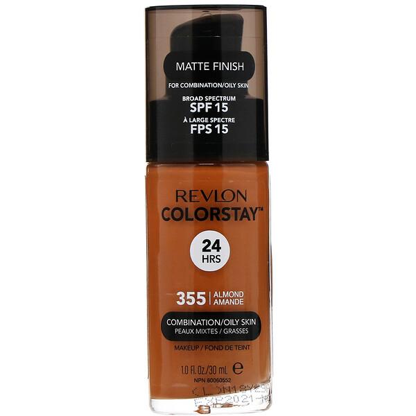 Colorstay, Makeup, Combination/Oily, 355 Almond, 1 fl oz (30 ml)